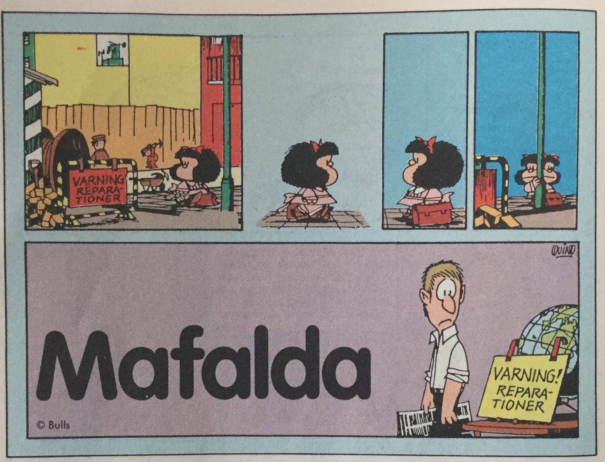 Mafalda ur SeriePressen nr 1, 1993. ©Bulls