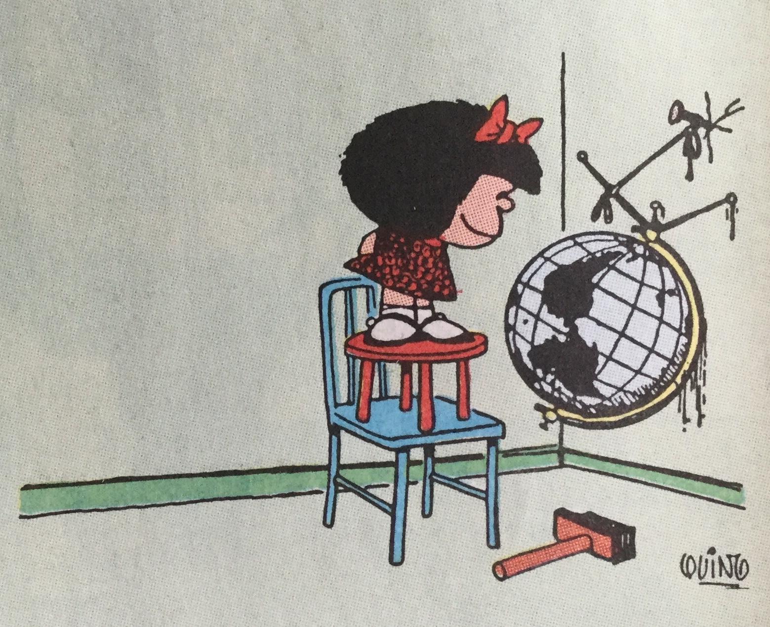 Mafalda är en serie om en flicka med världssamvete