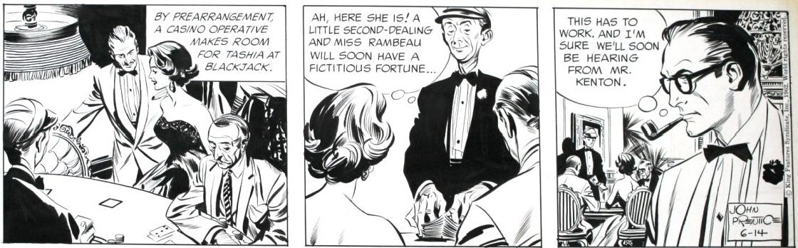 En Rip Kirby-stripp spöktecknad av Al Williamson från 14 juni 1962