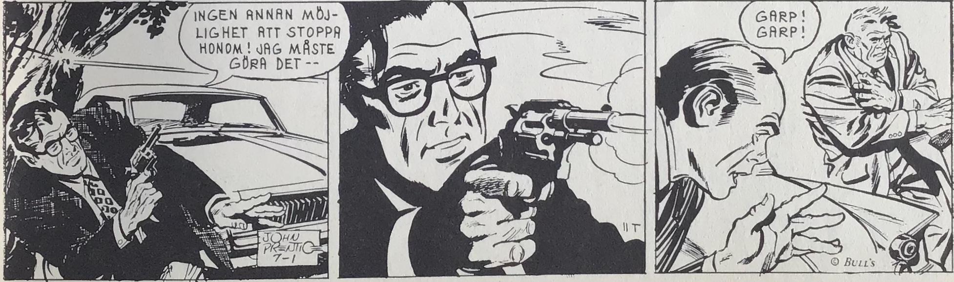 En stripp från 1 juli 1968, ur Comics nr 1
