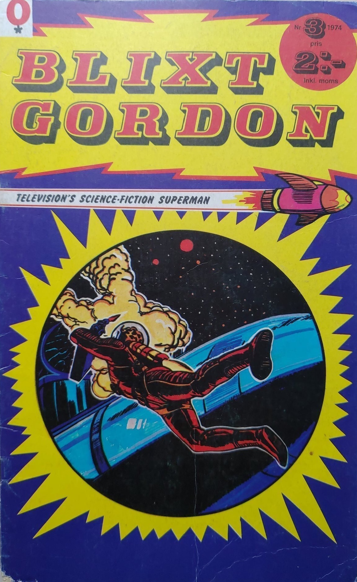 Omslag till Blixt Gordon nr 3, 1974