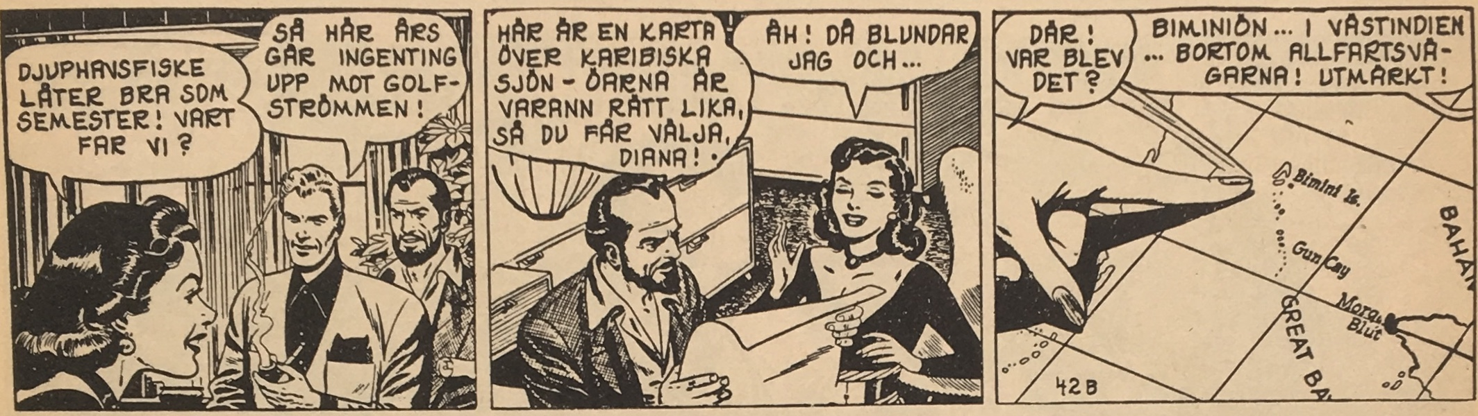 """En Blixt Gordon-stripp ur """"Atlantis, den sjunkna kontinenten"""", från 26 oktober 1953"""