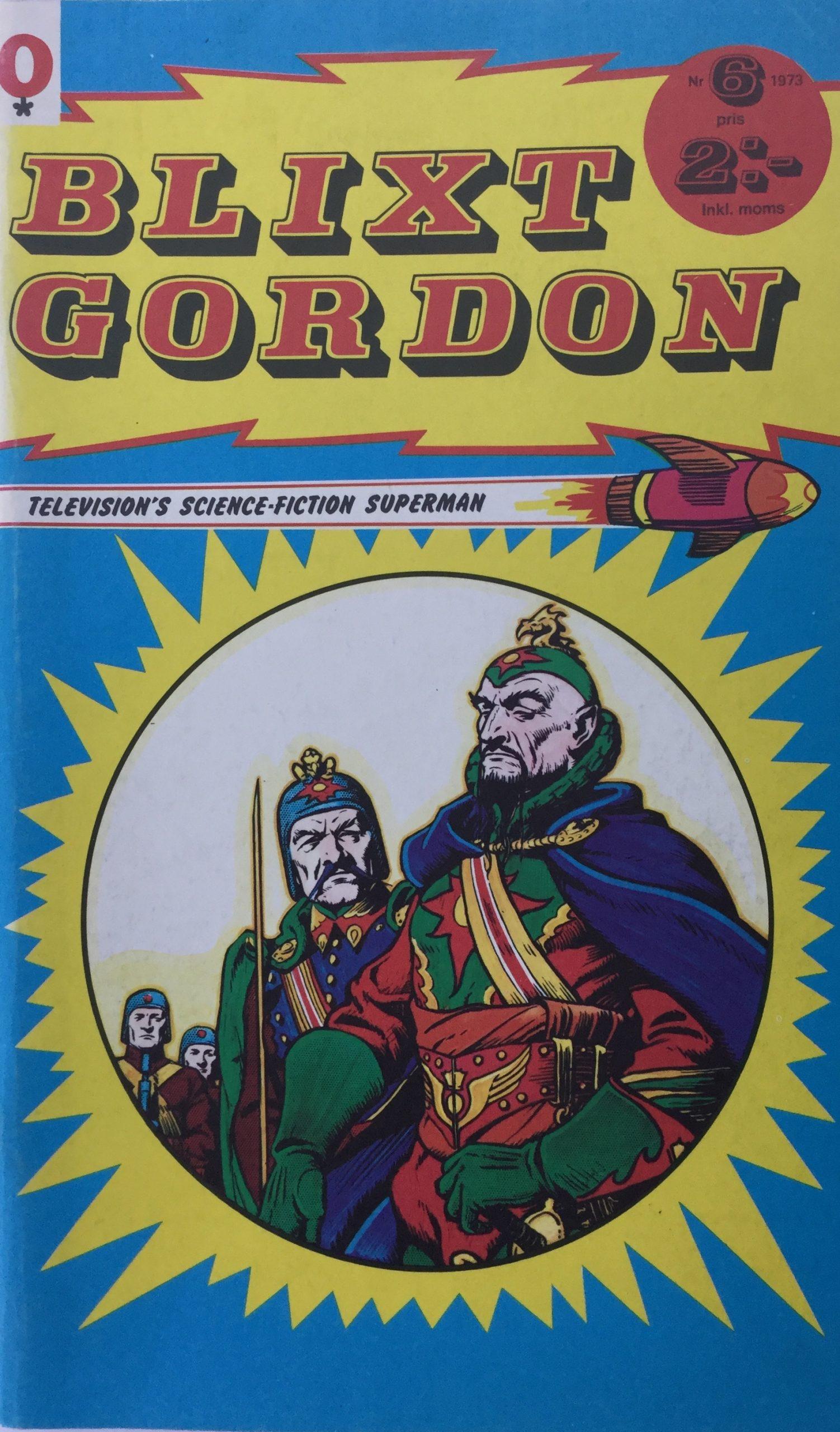 Omslag till Blixt Gordon nr 6, 1973