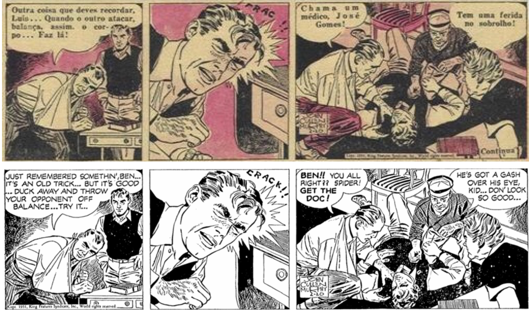 Ett till exempel på kapning underifrån, av Big Ben Bolt från 20 februari 1951