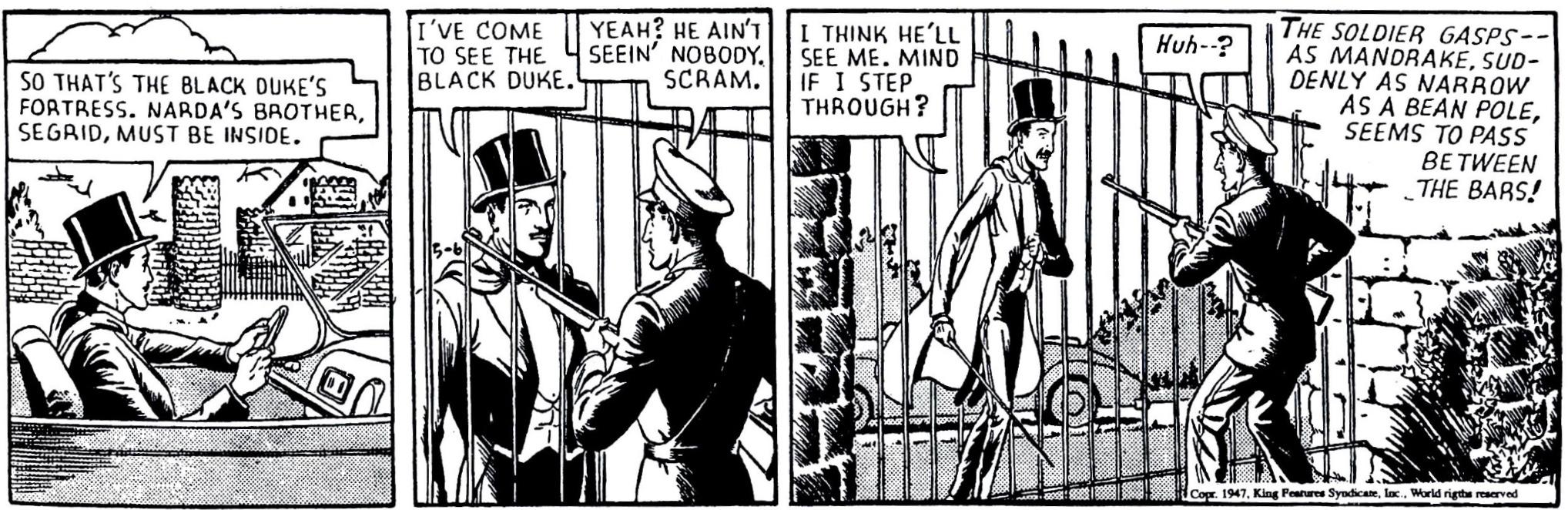 En stripp ur H.R.H. Cuddles från 6 maj 1947
