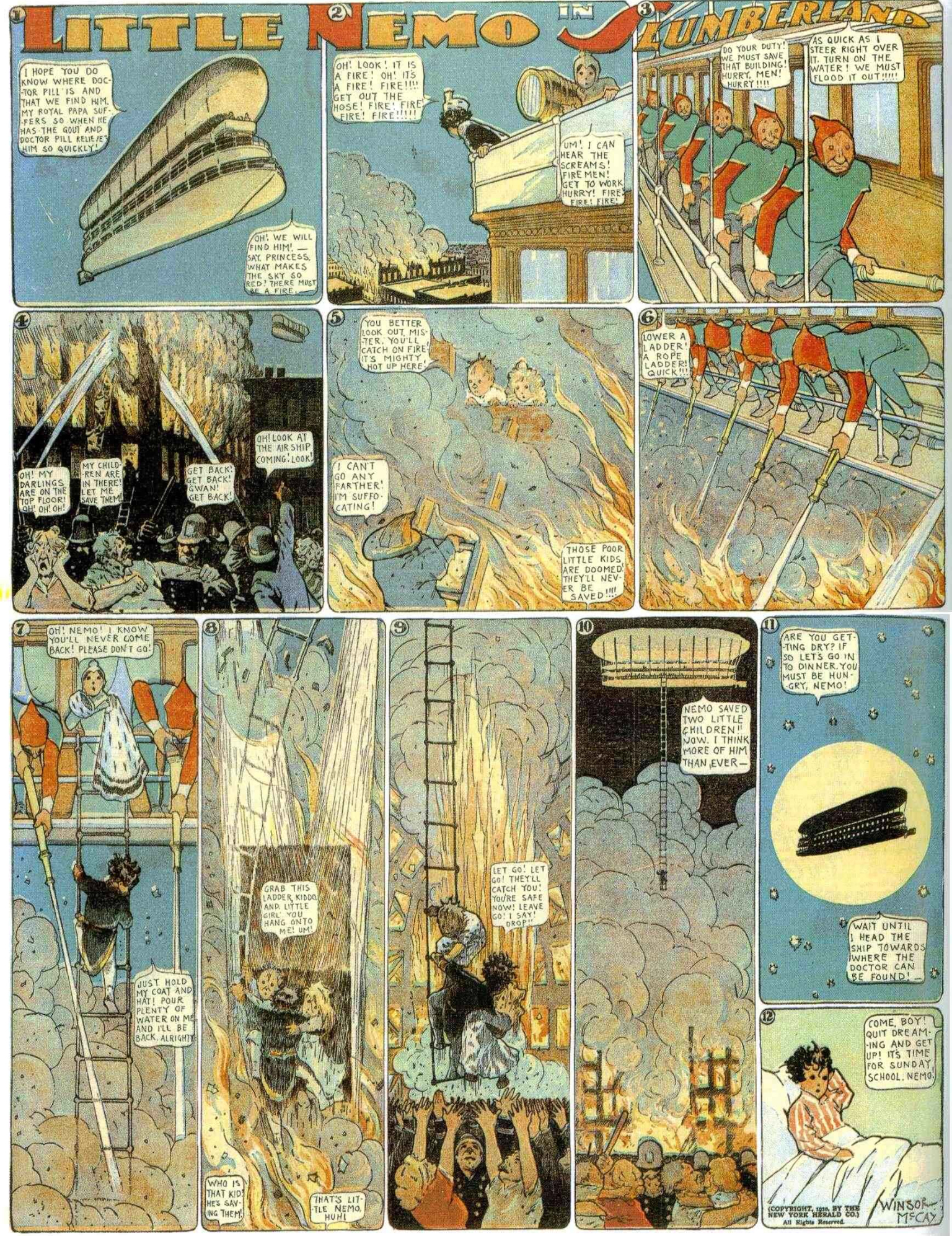 En söndagssida av Winsor McCay från 1910