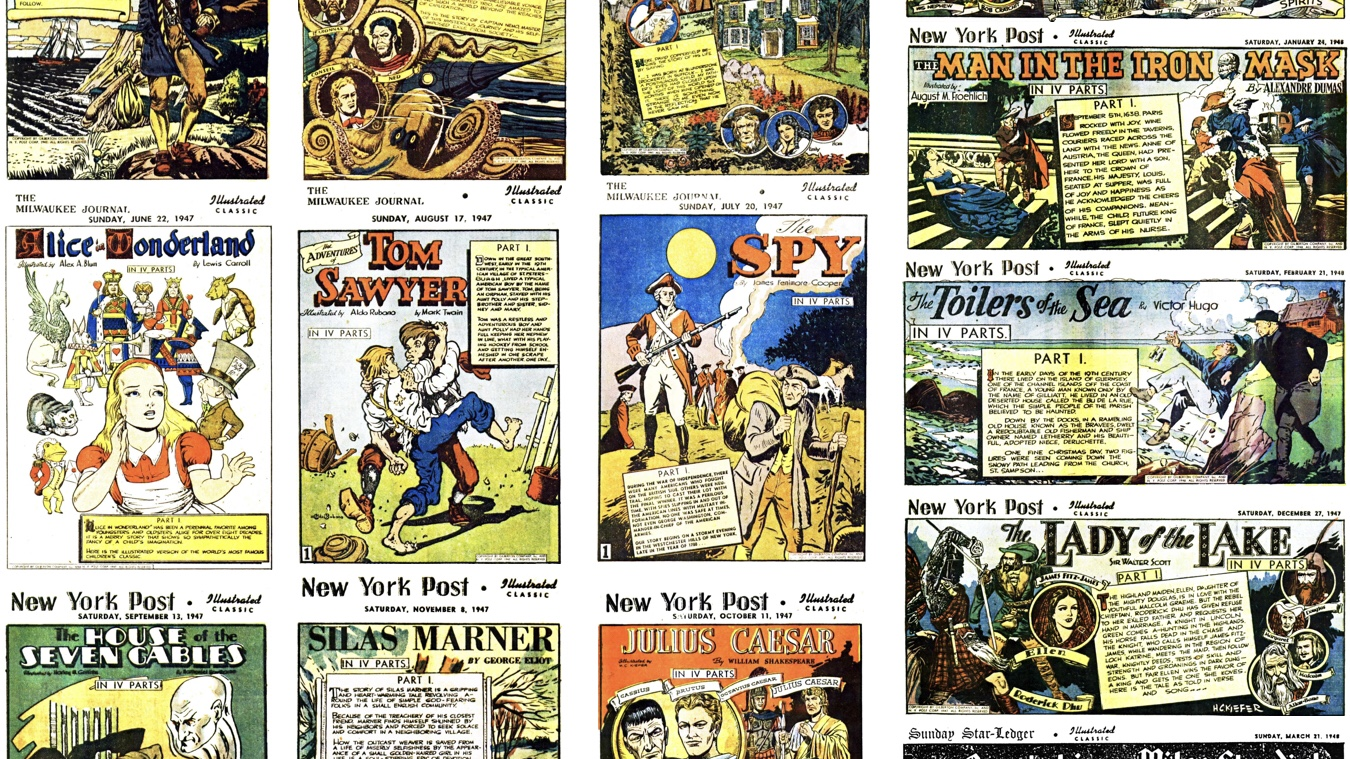 Illustrated Classic, söndagsbilagan med Illustrerade klassiker