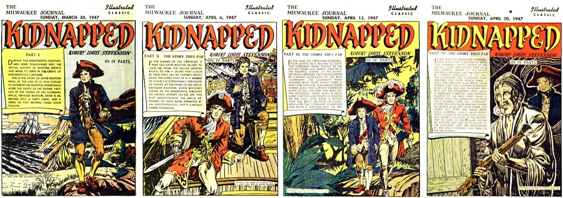 Illustrated Classic var en seriebilaga publicerad som en följetong 4 söndagar efter varann, där varje delepisod inleddes med en titelsida. ©Gilberton