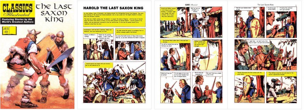 Omslag, förstasida och inledande uppslag ur Classics Illustrated (JES) No. 49. ©JES