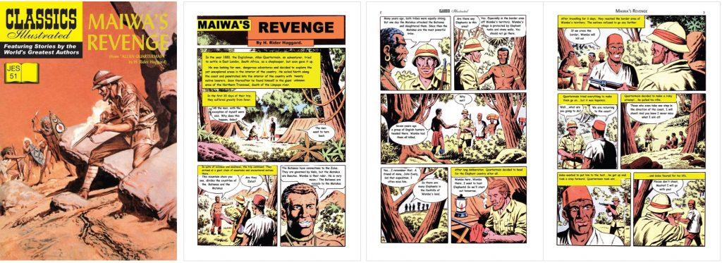 Omslag och inledande sidor ur Classics Illustrated (JES) No. 51. ©JES