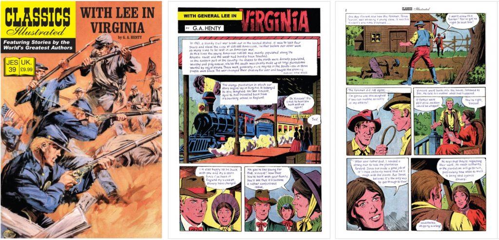 Omslag och inledande sidor ur Classics Illustrated (JES) No. 39. ©JES