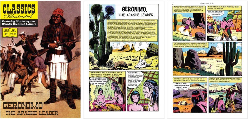 Omslag och inledande sidor ur Classics Illustrated (JES) No. 42. ©JES