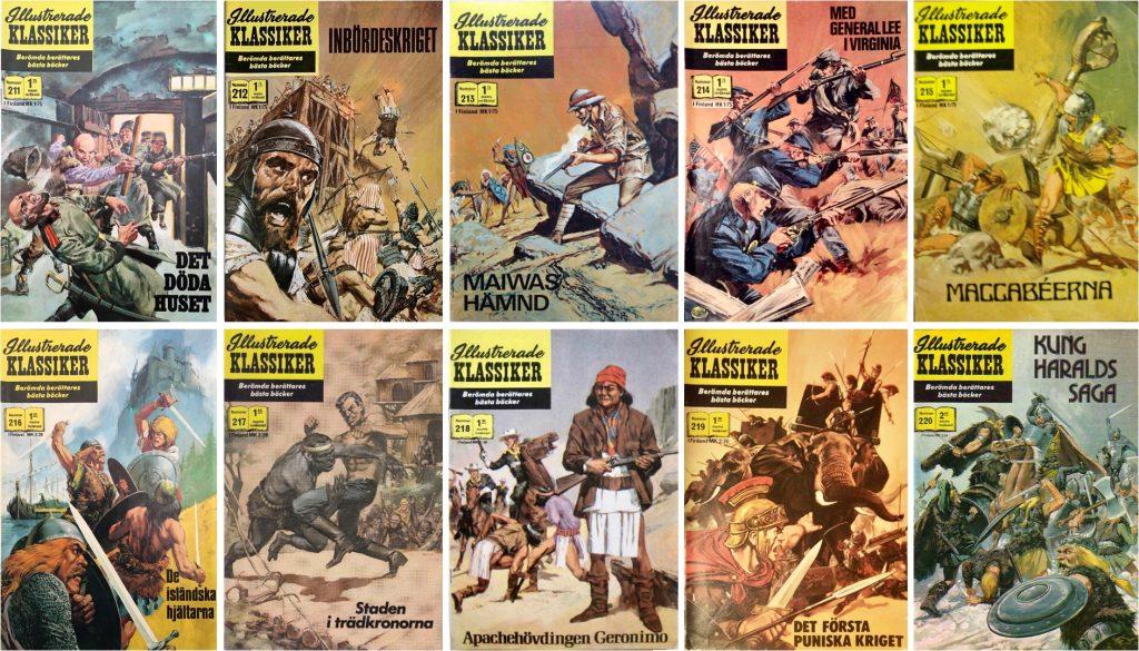 Omslag till Illustrerade klassiker nr 211-220 (1971-74). ©IK/Williams/JES