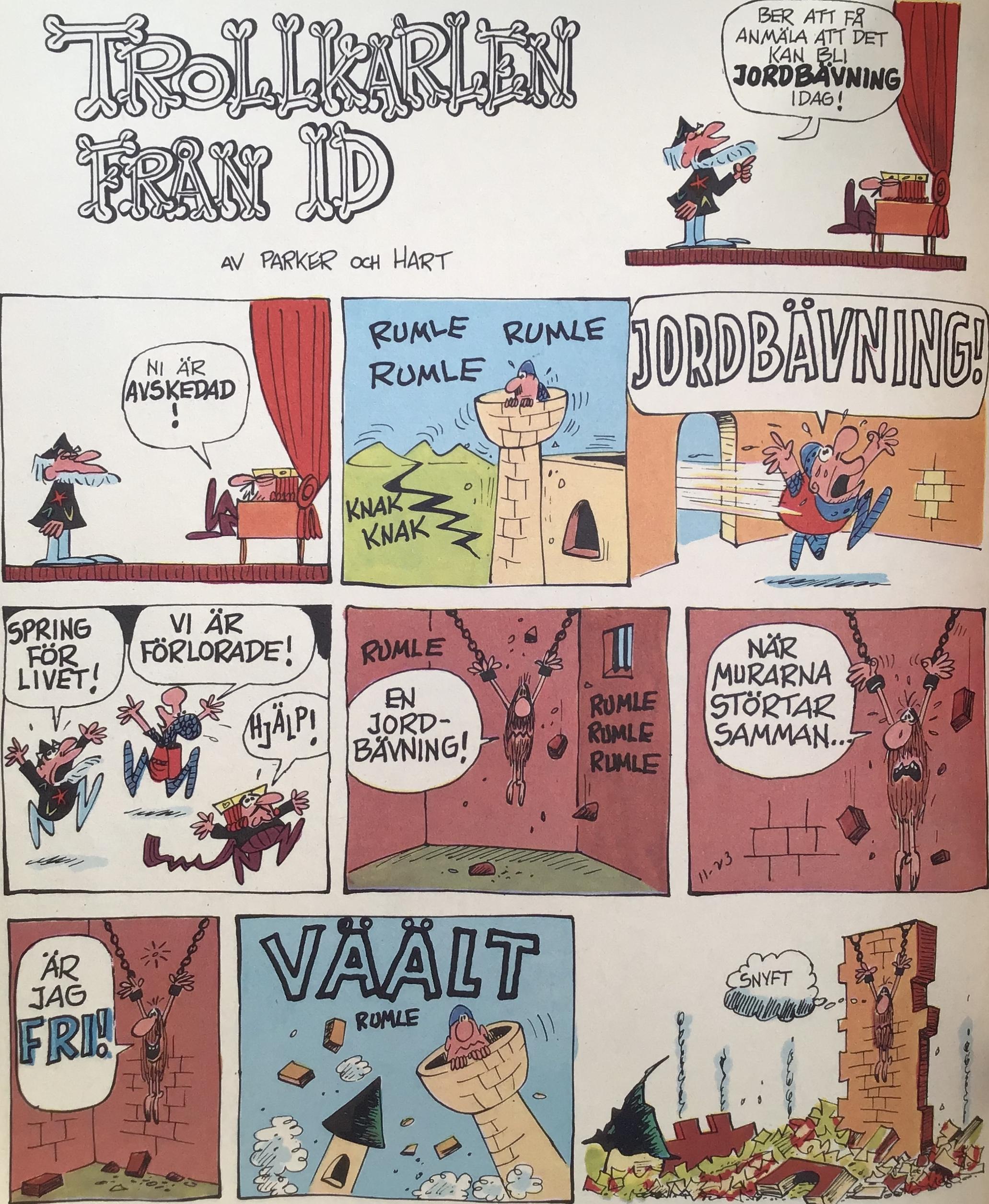 En söndagssida från 23 november 1969, ur Comics nr 1. ©Europa Press