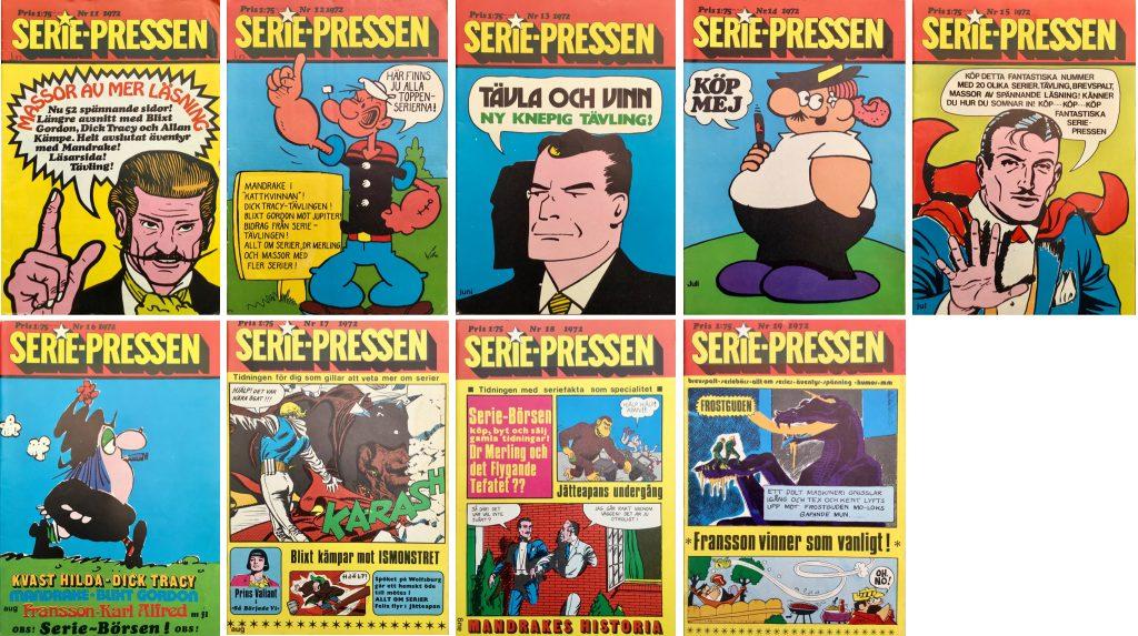 Episoden var publicerad i Serie-Pressen nr 10-19, 1972. ©Saxon&Lindström