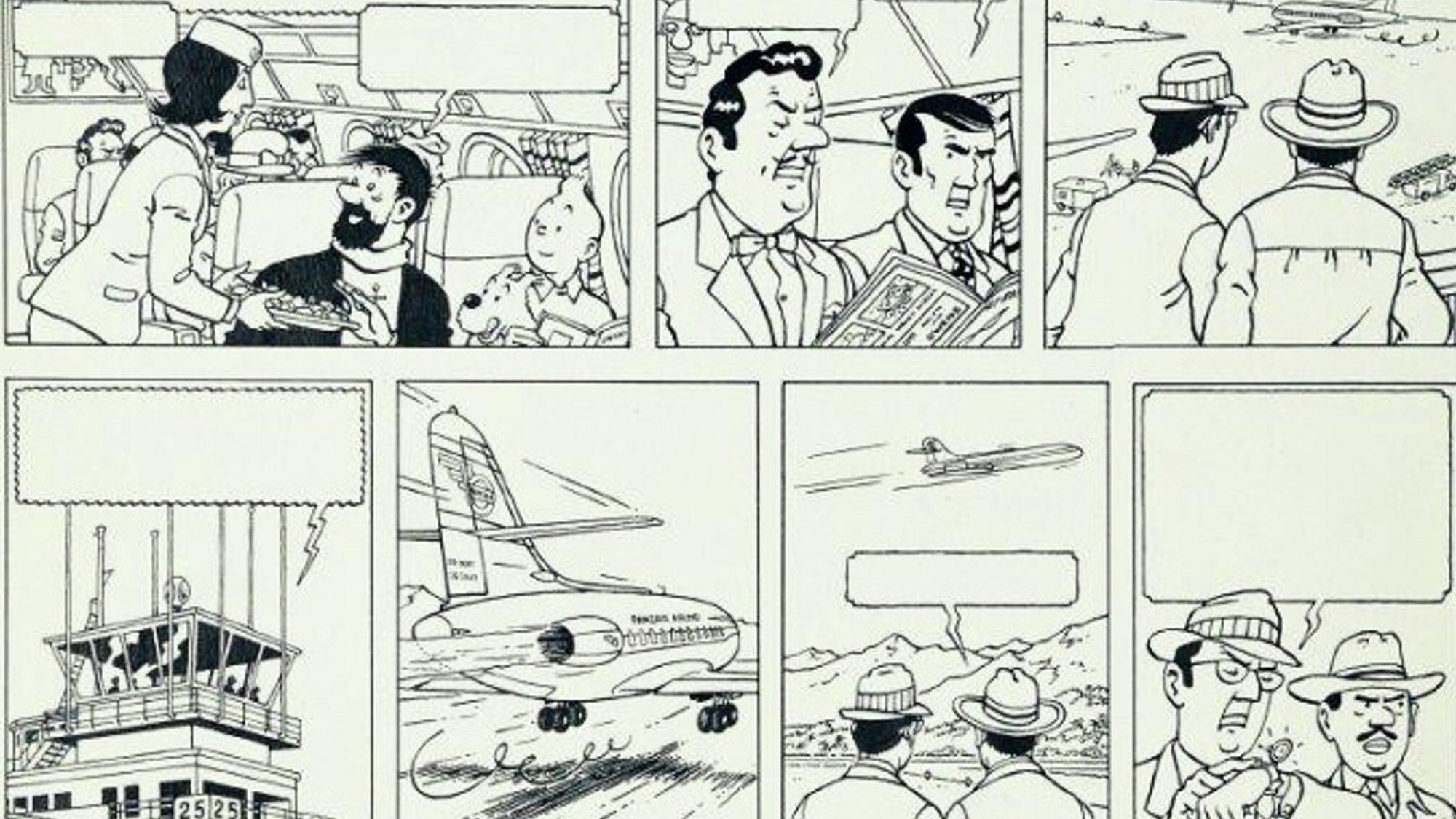 Sprattet på Studios Hergé, med Tintin