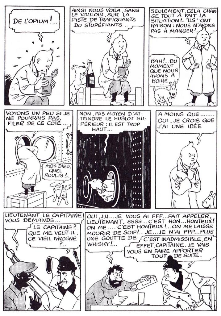 Första förekomsten av kapten Haddock, ur Le Soir Jeunesse från 2 januari 1941. ©Hergé-Moulinsart