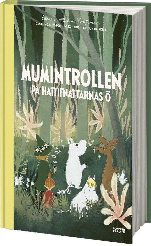 Omslag till bilderboken Mumintrollen på hattifnattarnas ö. ©Bonnier/Carlsen