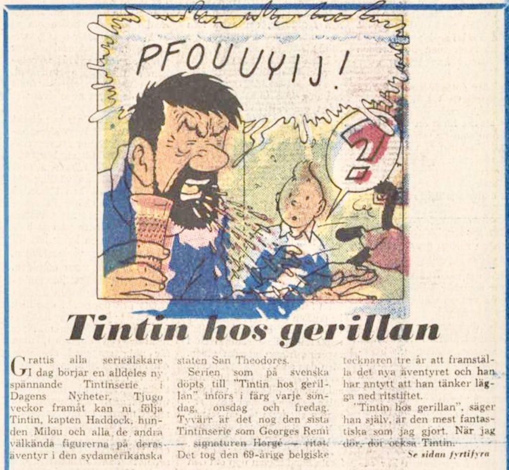 En presentation av episoden ur DN från söndag 19 september 1976.