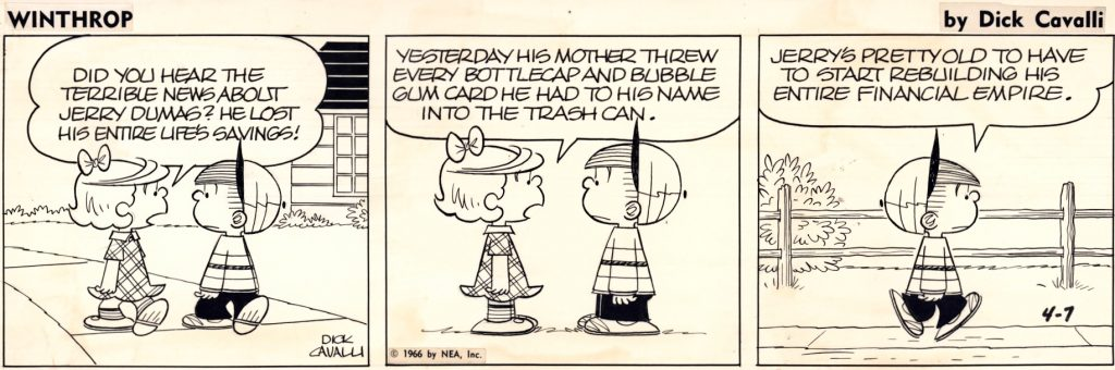 Original till en dagsstripp från 7 april 1966. ©NEA