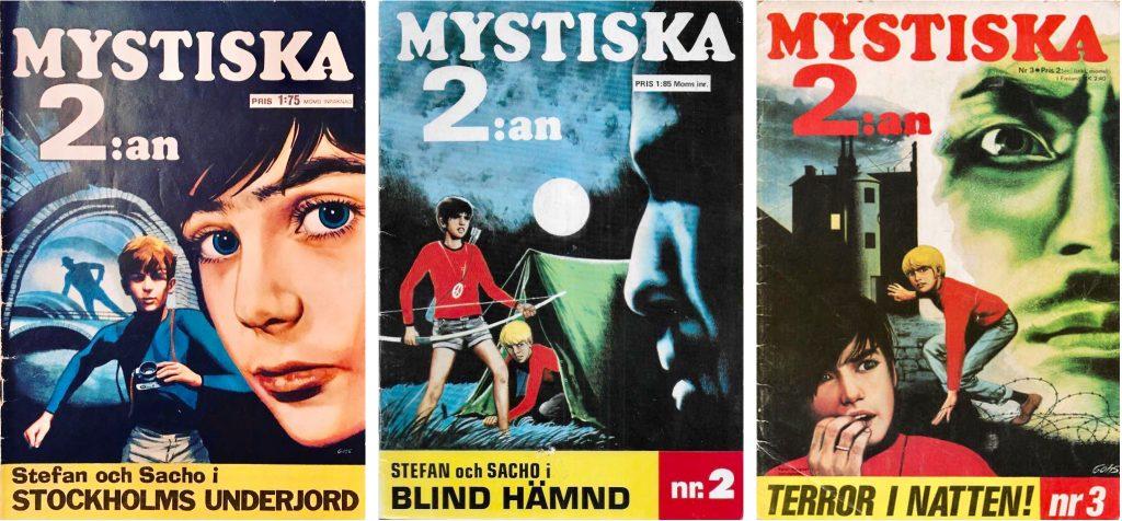 Omslag till Mystiska 2:an nr 1-3, 1970.  ©Inter Art