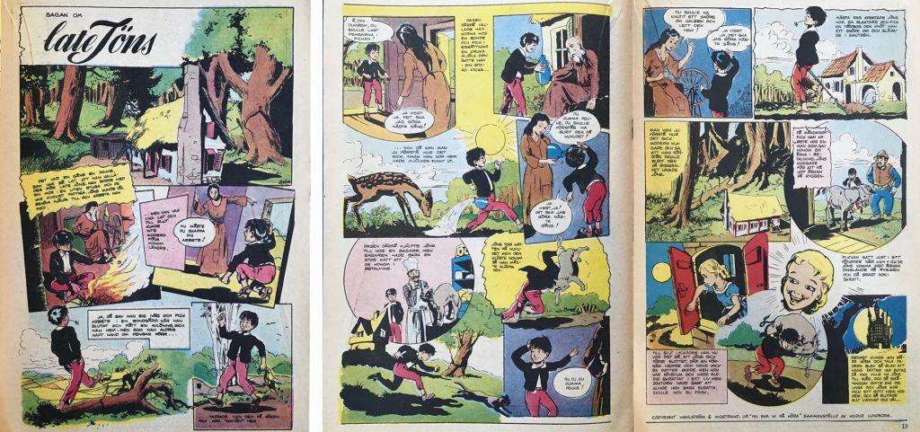 Sagan om Late Jöns, ur Tuff och Tuss nr 9, 1954. ©Serieförlaget