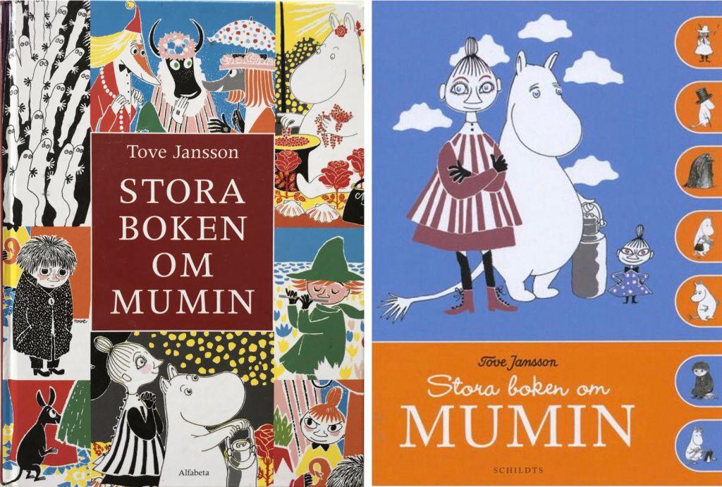 Omslag till Stora boken om Mumin. ©Alfabeta/Schildts