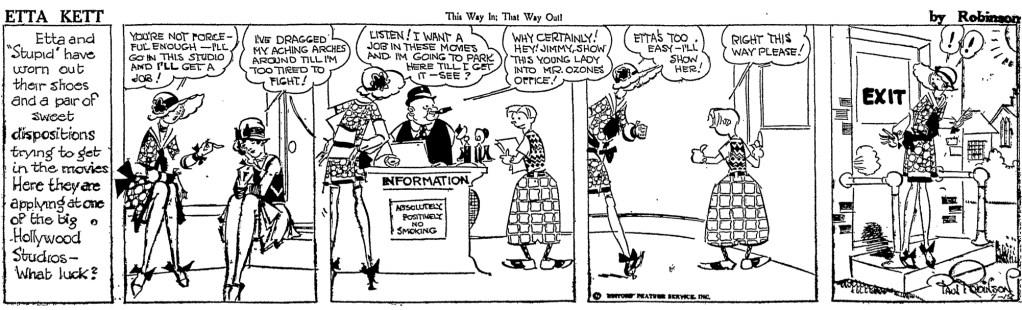 En dagsstripp med Etta Kett från 12 juli 1927. ©Editors Feature Service