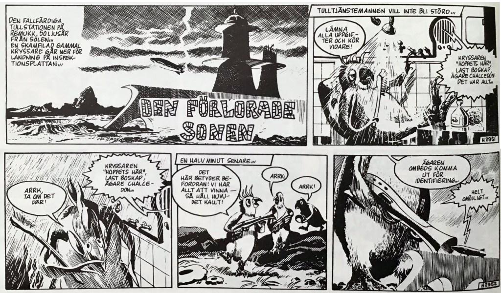 De inledande stripparna 2951-52 (från 25-26 september 1963) ur episoden Den förlorade sonen. ©Bulls