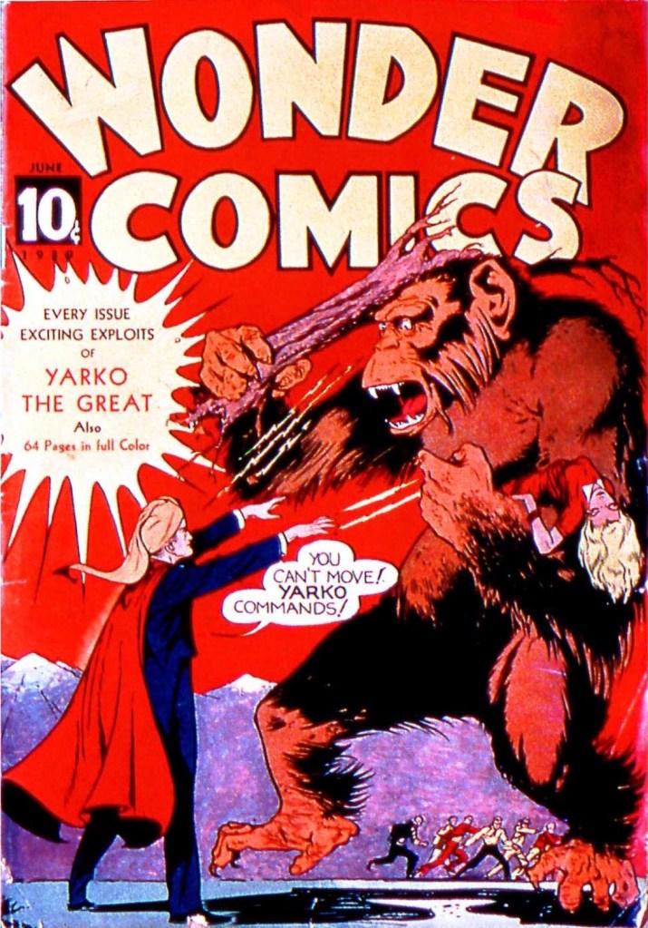 Yarko på omslaget till Wonder Comics #1 (1939). ©Fox
