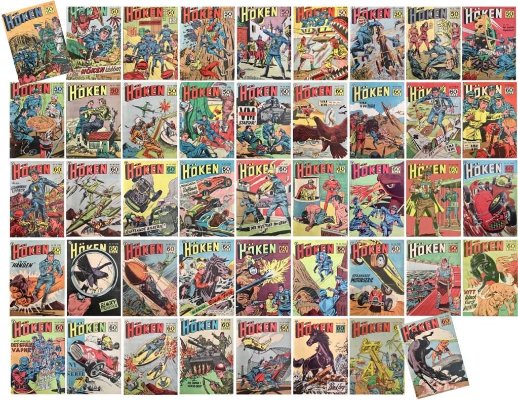 Det utkom 44 nummer med Höken årgång 1958. ©Formatic