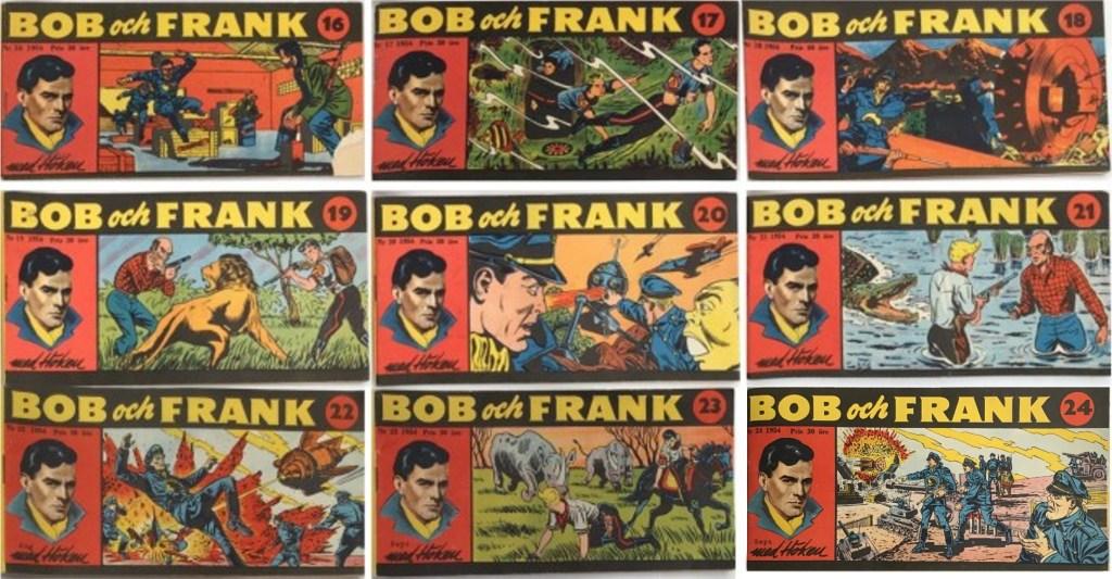 Omslag till Bob och Frank nr 14-24, 1954. ©Serieförlaget