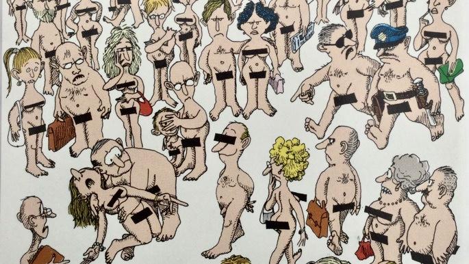 Skämtteckningar i serietidningar