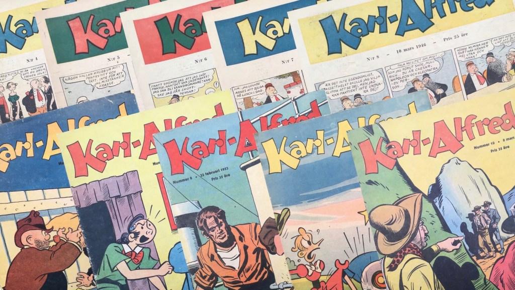 Mästerdetektiven X-9 var en del av innehållet i Karl-Alfred (1946-53). ©Aller