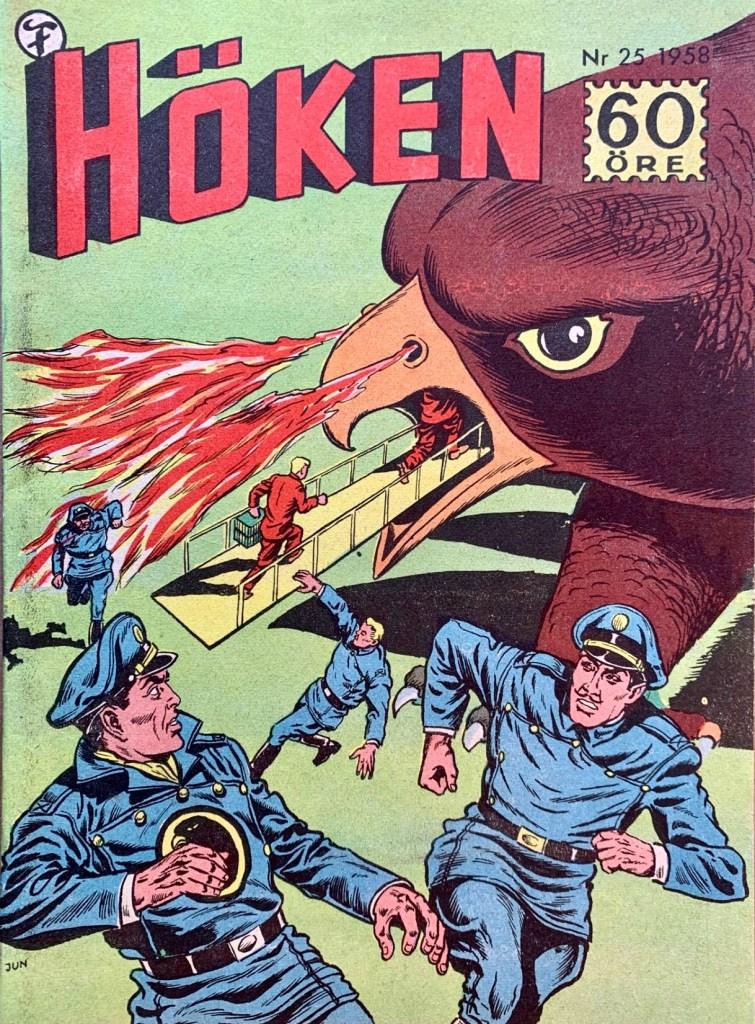 Omslag till Höken nr 25, 1958. ©Formatic/EuropaPress