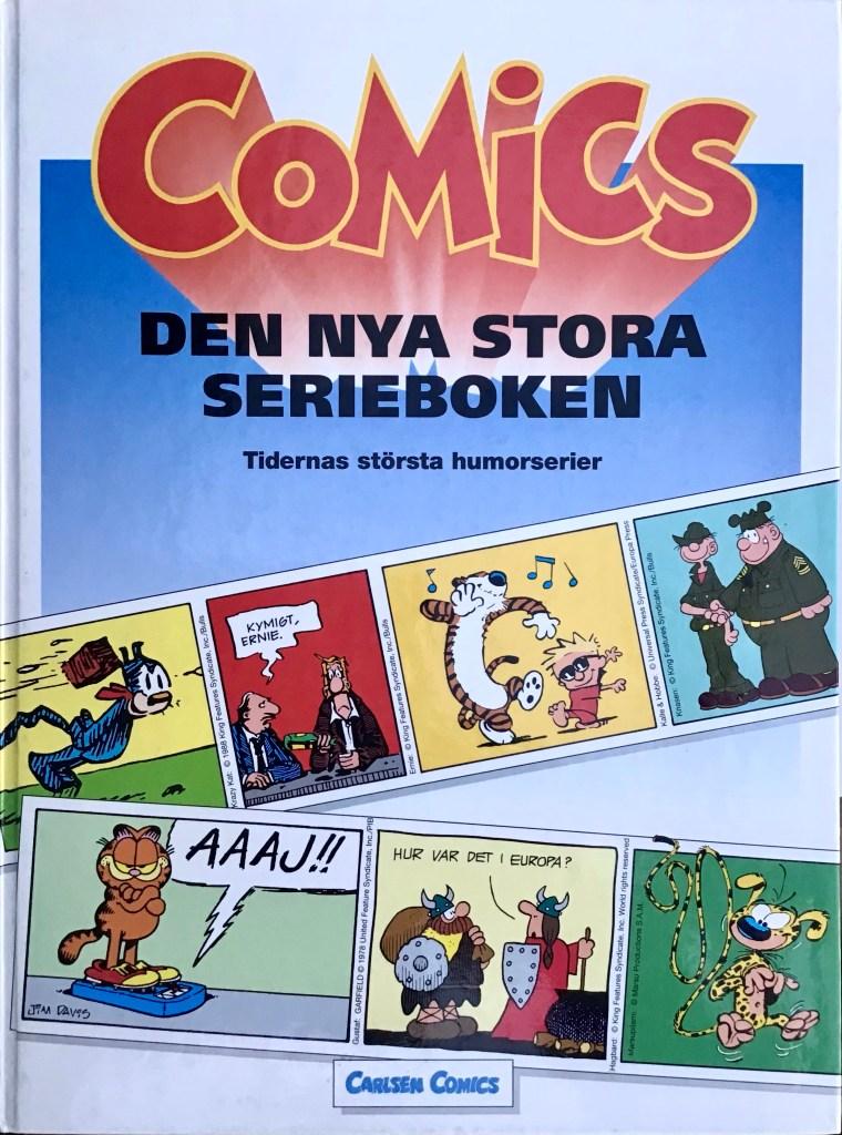 Omslag till Comics, den stora serieboken (1993). ©Carlsen