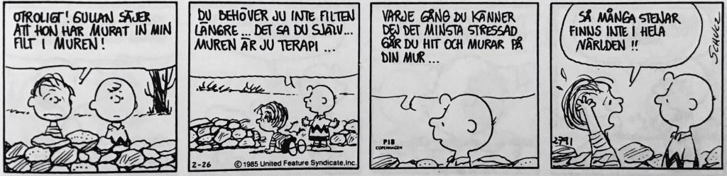 En dagsstripp med Snobben, ur nya Comics (1993). ©PIB/United