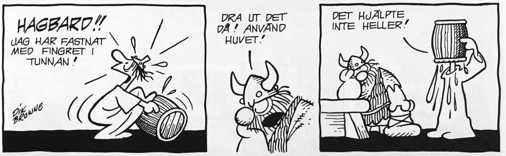 En dagsstripp med Hagbard ur nya Comics (1993). ©Bulls/KFS