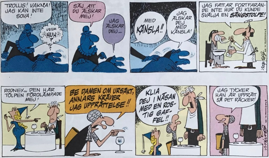 Ett par dagsstrippar med Trollkarlen ur nya Comics (1993). ©EuropaPress/Field