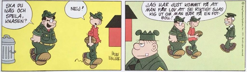 En dagsstripp med Knasen (1971) ur Comics - serierna 100 år. ©Bulls