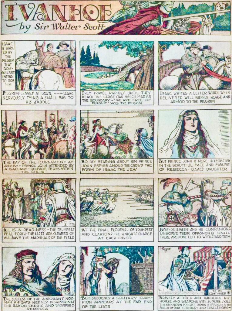 Ivanhoe ur New Fun #3 (1935). ©National Allied