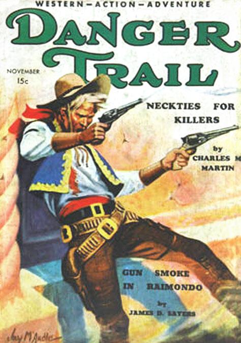 Omslag, signerat Jay McArdle, till Danger Trail (november 1934).