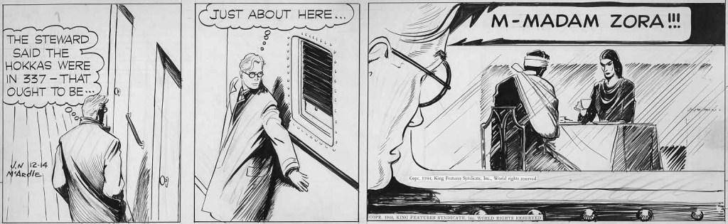 Original till en dagsstripp med Dr. Bobbs från 14 december 1944. ©KFS