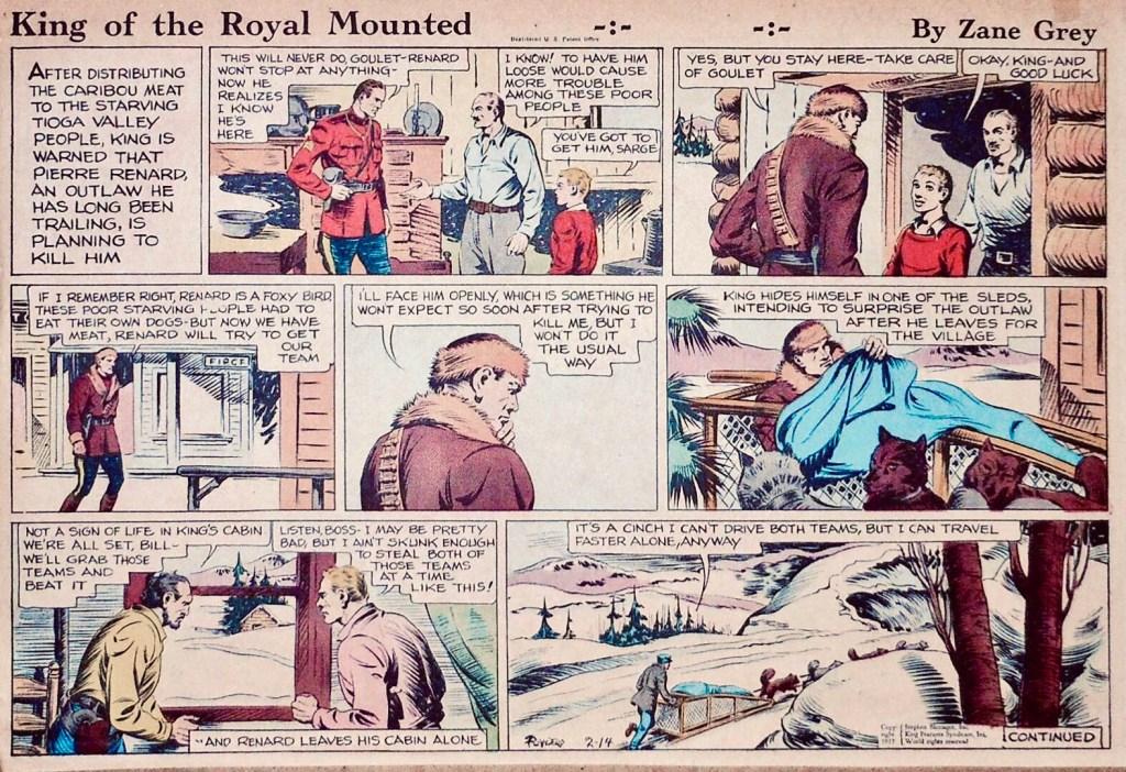 En söndagsstripp med King från 14 februari 1937. ©KFS
