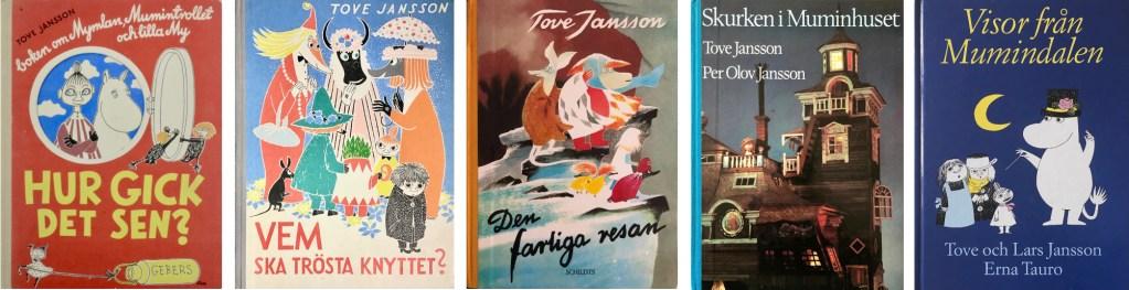 Bilderböcker med Mumintrollen av Tove Jansson. ©Moomin Characters