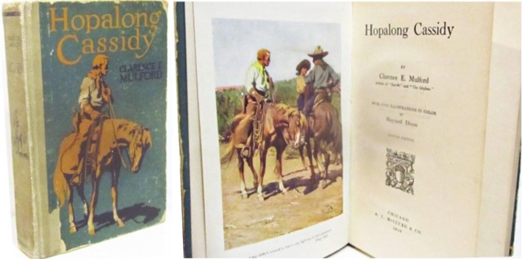 Hopalong Cassidy av Clarence E. Mulford i en utgåva från 1910.