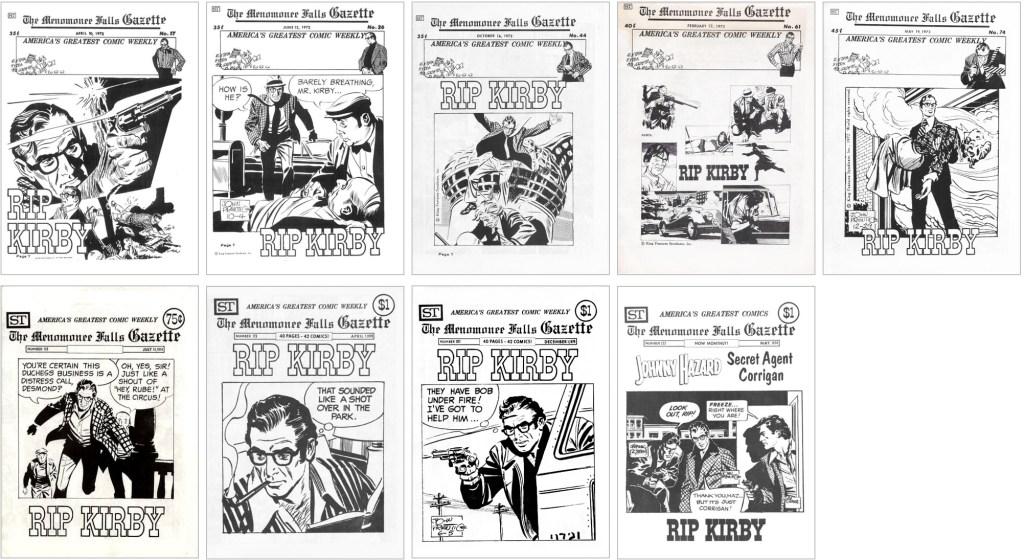 Rip Kirbh fanns med på omslaget till MFG #17, #26, #44, #61, #74, #135, #173, #207 och #222. ©Street Enterprises