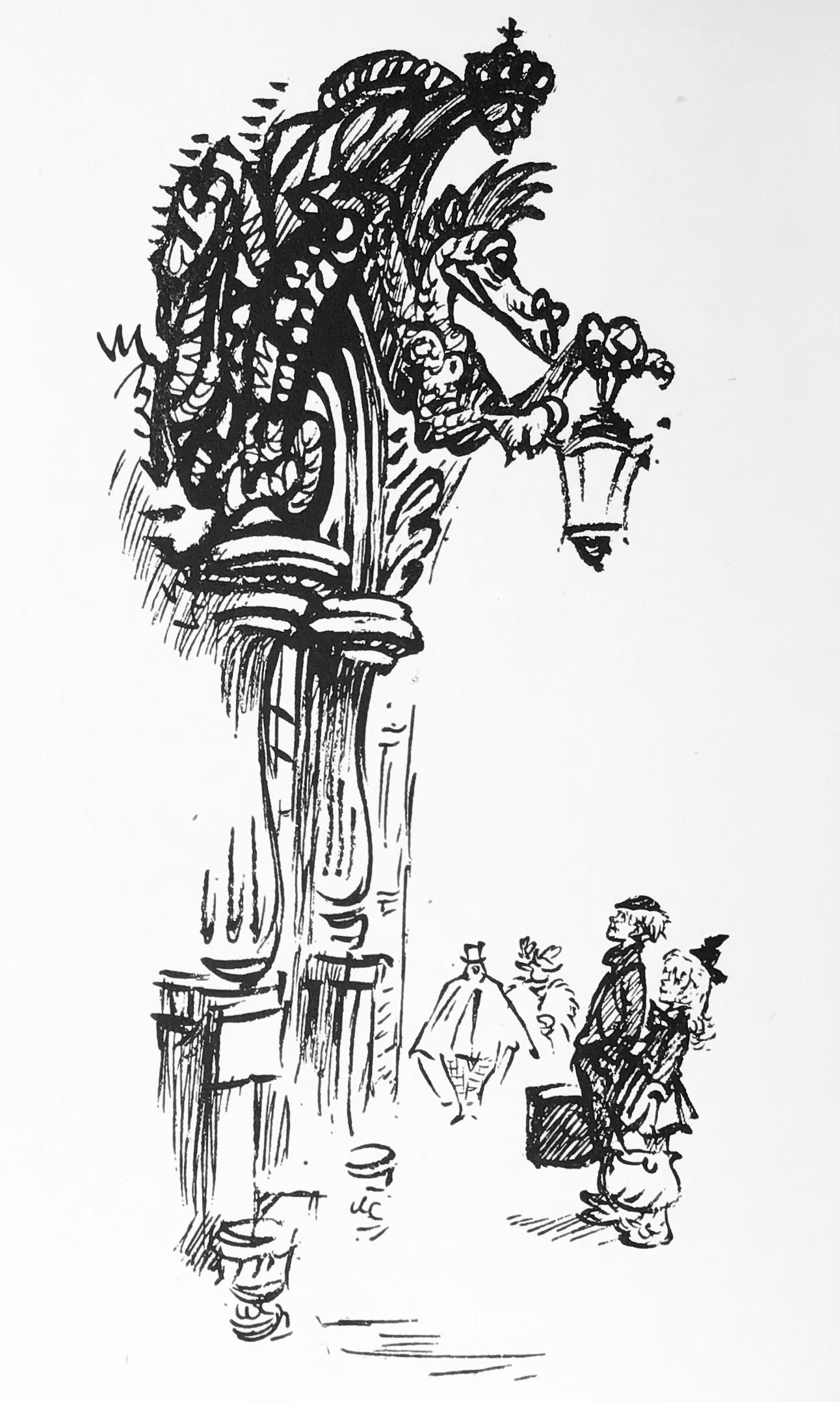 Rustan tog Liv i armen och drog henne med sig genom spårvagnen som just bromsade in vid en hållplats på Strandvägen. De hoppade av och tog sig över körbanan i riktning mot ett stort patricierhus med en skulpterad drake över porten.