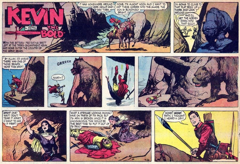 Motsvarande söndagssida (halvsida) med Kevin the Bold, från 26 juli 1953. ©NEA