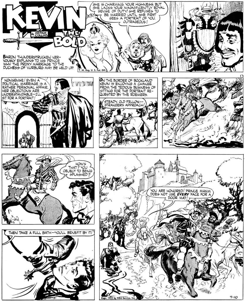 Inledande söndagssida från 10 juli 1955. ©NEA